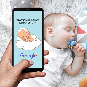 Tracking baby's eye and body movements through AI technology