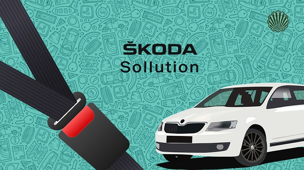The First iLluminated Smart Seat Belt Patented by Skoda