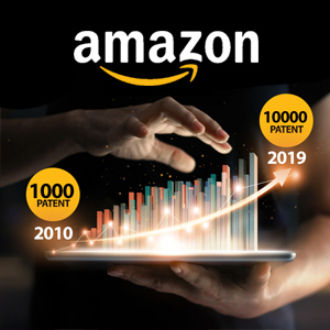 1000 percent growth in Amazon patents over 10 years